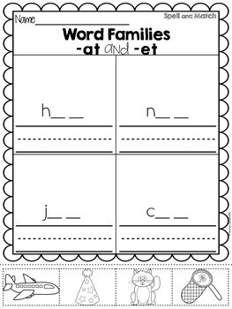 CVC Spelling, Cut and Paste Activities