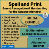 A year of Alternative Spellings and Handwriting Combined! MEGA-BUNDLE