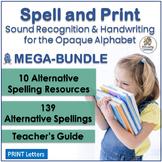 Spelling Activities & Handwriting MEGA-BUNDLE links Jolly