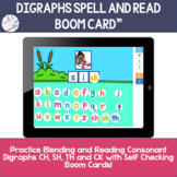 Spell and Read Digraph Word Building | BOOM Cards ™