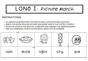 Spell by Patterns: LONG I BUNDLE