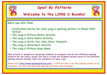 Spell by Patterns: LONG U BUNDLE