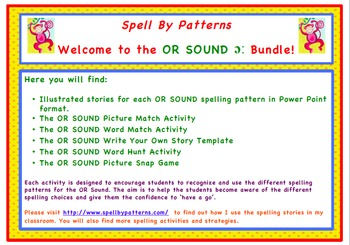 Spell by Patterns: OR SOUND BUNDLE