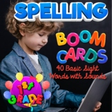 BOOM Cards Spelling Practice, 40 Words with Audio, 1st Gra