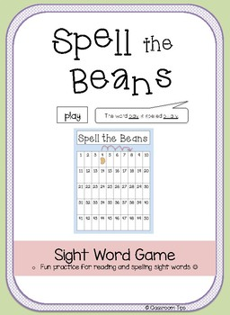 Spell the Beans - Sight Word Game
