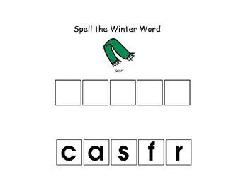 Spell the Winter Words
