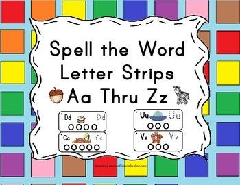 Spell the World Letter Strips Aa Thru Zz