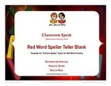 Speller Teller Blank Template