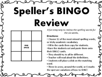 Speller's BINGO Review