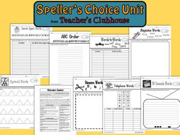 Speller's Choice Unit from Teacher's Clubhouse