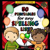 Spelling Word Work & Spelling Activities