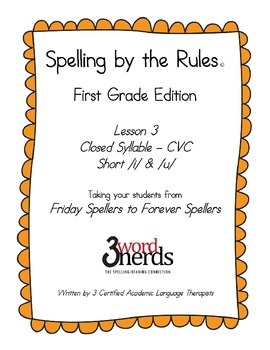 Spelling - Closed Syllable Pattern / Short i & Short u - First Grade