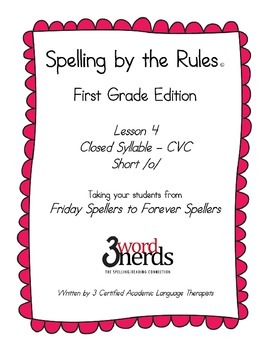 Spelling - Closed Syllable Pattern / Short o - First Grade