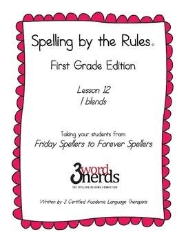 Spelling - L ~ Blends - First Grade