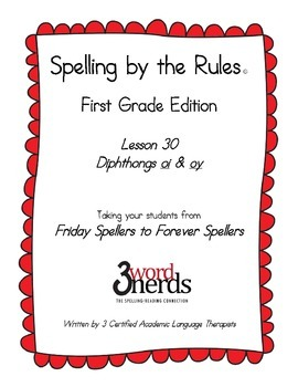 Spelling - Diphthongs oi and oy - First Grade