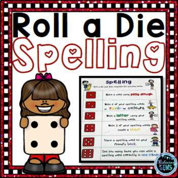 Literacy Center Roll a Die Spelling Games