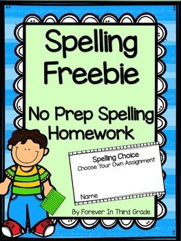 Spelling Homework Booklet