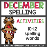 Spelling Activities for Any List December