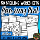 Spelling Worksheets & Spelling Word Work Activities