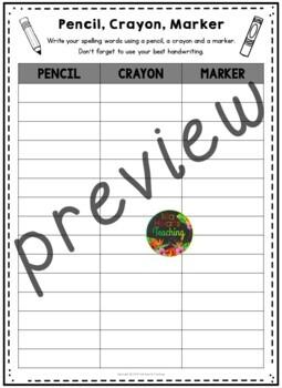 Spelling Worksheets & Spelling Word Work Activities