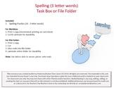 Spelling (3 letter words) Task Box or File Folder