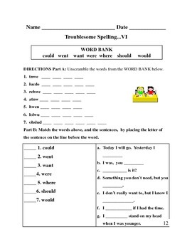Spelling- Forty High Frequency Words