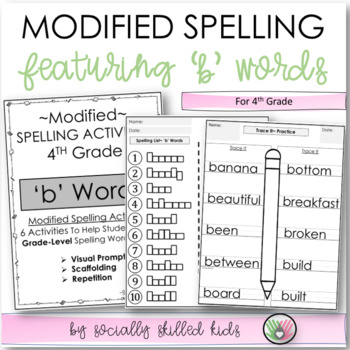 """Spelling: 4th Grade Modified (""""b"""" Words)"""