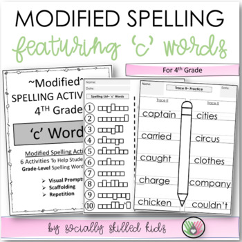 """Spelling: 4th Grade Modified (""""c"""" Words)"""