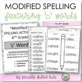 "Modified Spelling List & Activities For 4th Grade {""c"" words}"