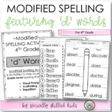 Modified Spelling Activities For 4th Grade {'d' words}