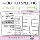 "Modified Spelling List & Activities For 4th Grade {""e"" Words}"
