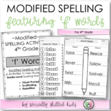 "Modified Spelling List & Activities For 4th Grade {""f"" words}"