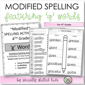 """Spelling: 4th Grade Modified (""""g"""" Words)"""