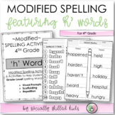 Modified Spelling Activities For 4th Grade {'h' words}