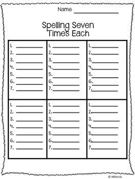 Spelling 7x