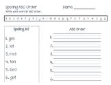 Spelling ABC order Journeys 1st grade Dr. Suess Unit 2.4
