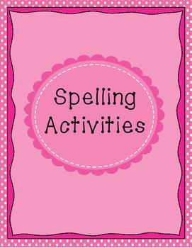 Spelling Activites