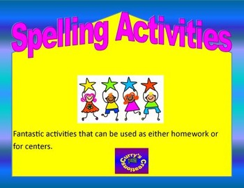 Spelling Activities
