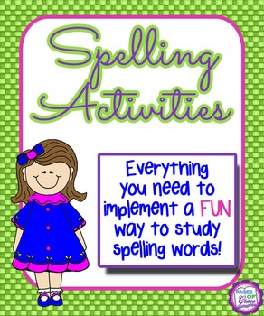 Spelling Activities: Fun Program to Study Spelling Words