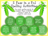 Spelling Activities--2 Peas in a Pod