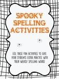 Halloween Spelling Activities