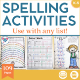Spelling Activities For Any List Distance Learning