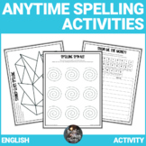 Spelling Activities - 42 activities! No Prep! Use anywhere