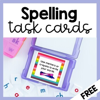 Spelling Activities (66 Task Cards) for ANY LIST!