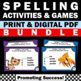 Commonly Misspelled Words, Spelling Activities BUNDLE 3rd 4th Grade