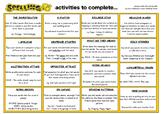 Spelling Activities Chart
