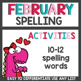 Spelling Activities for Any List February