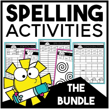 Spelling Activities for Any List | BUNDLE