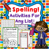 Spelling Worksheets for Any Spelling List!