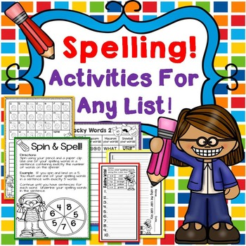 Spelling Activities/Worksheets for Any Spelling List!